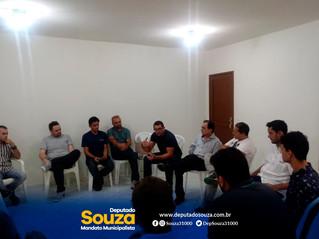 Deputado Souza Neto(PHS) participa de Reunião e fala sobre a instalação do Vídeo Monitoramento