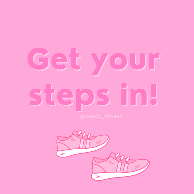 Pink and White Fitness Goal Instagram Po
