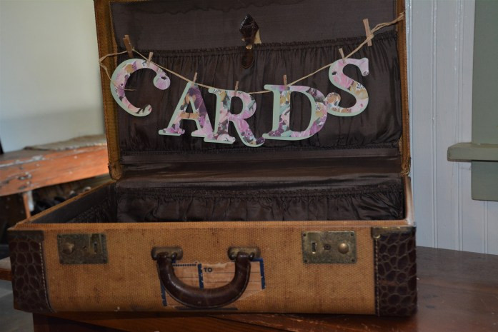 suit case for wedding cards