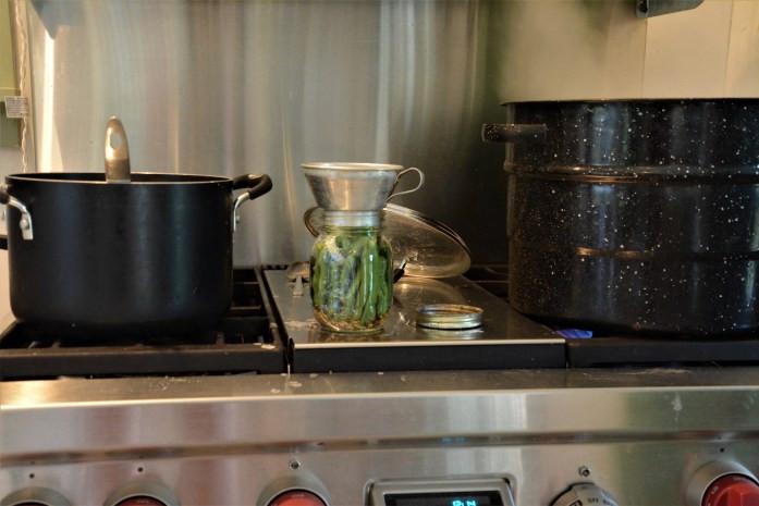 Fill Jars with Brine