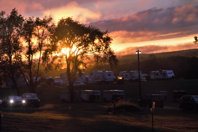 Camping area at fairgrounds