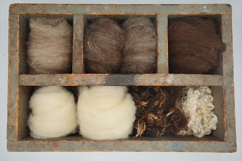 Flock Wool Sampler | Felt Pack | Needle Felting