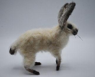 Needle Felt Bunny side