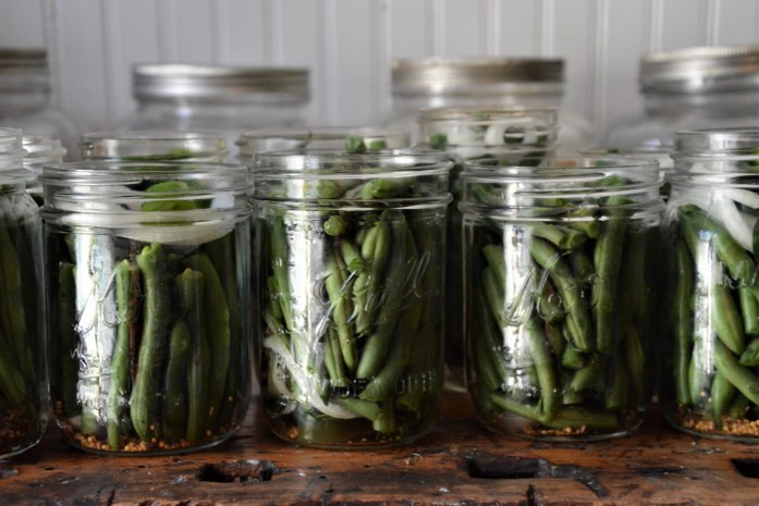 jars with beans