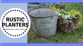 Rustic Flower Planter Buckets- They're Not Just for Milking Anymore!