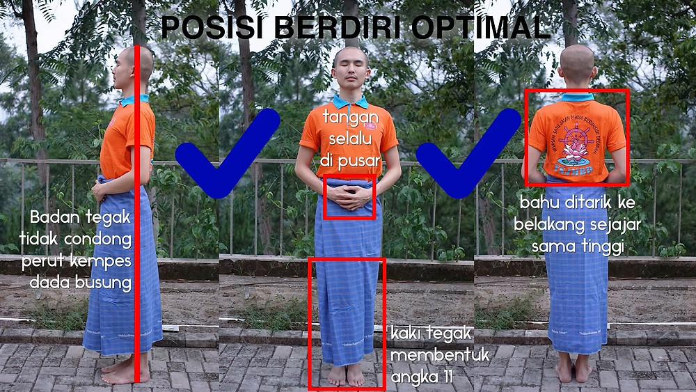 Postur Meditasi Berdiri efektif mengikis kilesa