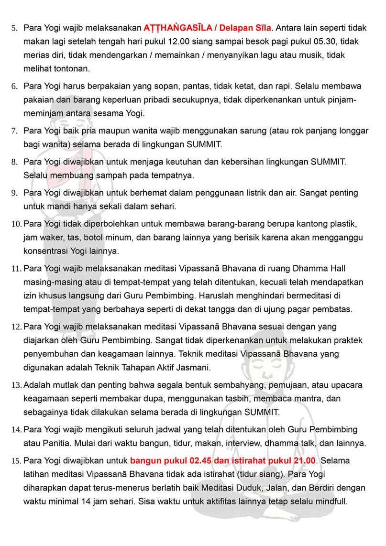 Peraturan Tata Tertib Sukhesikarama Mindfulness Forest 02