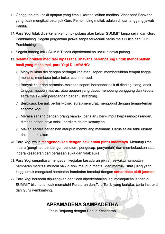 Peraturan Tata Tertib Sukhesikarama Mindfulness Forest 03