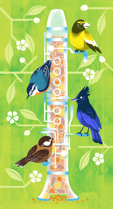 Musical Birdfeeder