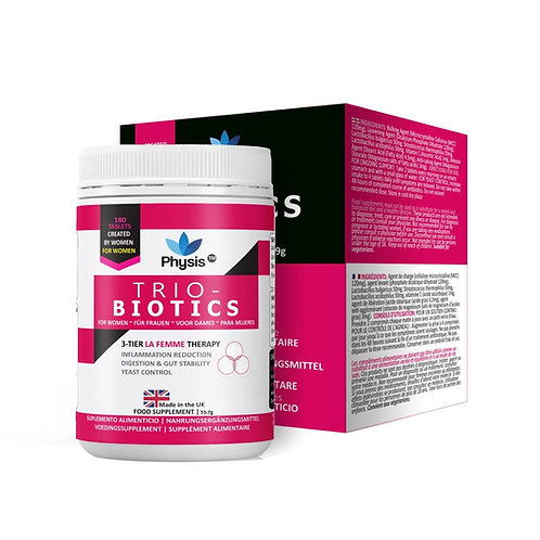Physis Trio-Probiotics for Women - 180 tablets
