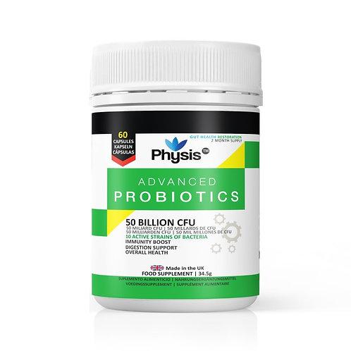 Physis Advanced Probiotics Two Month Supply (60 Capsules) - 50 Billion CFU