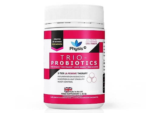 Physis Trio-Probiotics for Women - 120 tablets