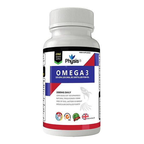 Physis Omega 3 Fish Oil 1000mg Fatty Acids Essentials