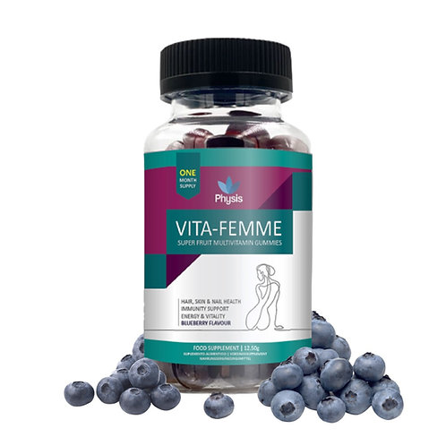 Physis Vita-Femme – Superfruit Multivitamin Gummies for Women