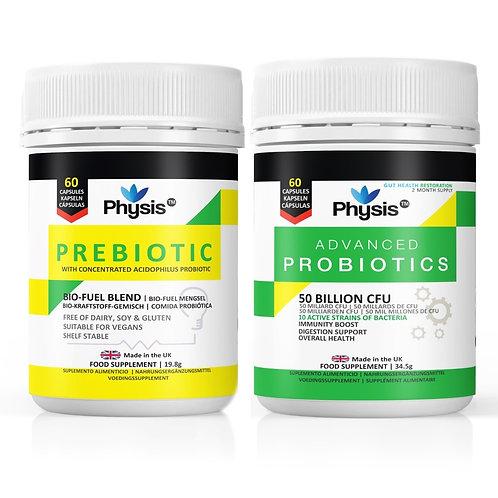 Physis Advanced Probiotics and Prebiotic Bio Cultures Value Pack