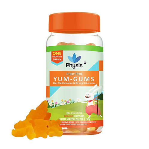 Physis Kids Multivitamin RUDY ROO Gummies - 30 Orange Flavour Softies