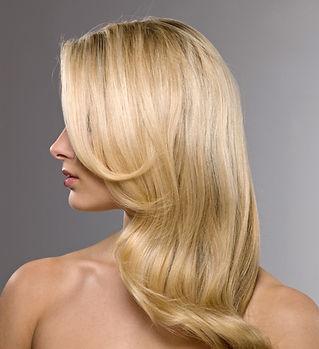 Блондинка модель волос
