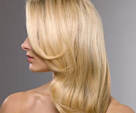 Modello biondo dei capelli