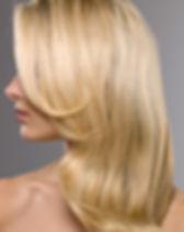 Blont hår Modell