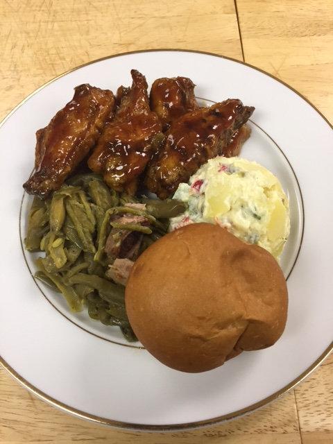 BBQ Chicken Platter - Wings