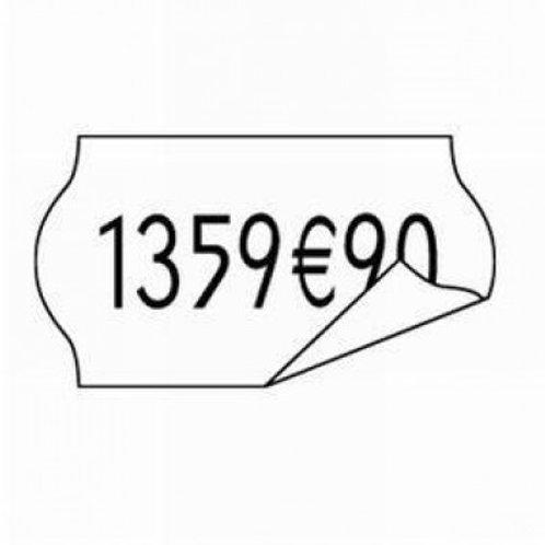 15000 étiquettes tarifs blanches 26x12