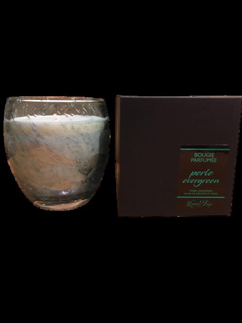 Bougie en verre soufflé perle edergreen