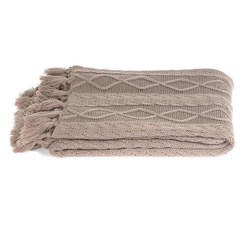Plaid tricot Taupe