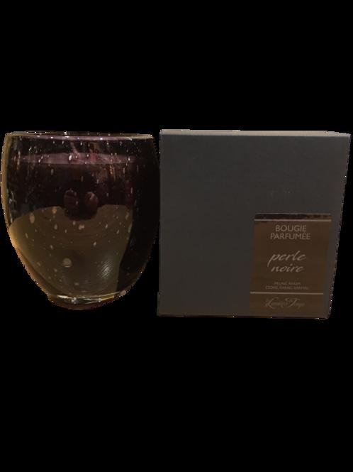 Bougie en verre soufflé perle noire