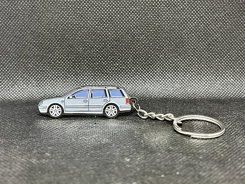 MK4 Wagon Keychain - Silver