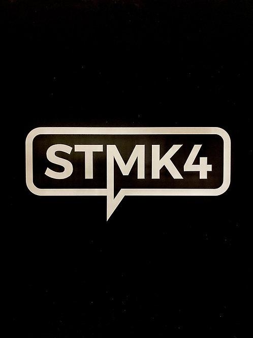 STMK4 Die Cut Sticker WHITE
