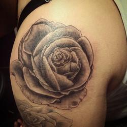 #oaxtattooink #rose #roses #gavo #tattoo #rosetattoo#efrenart