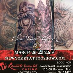 Presente #oaxtattooink #ink en #unitedink #hamptoninnjfk #resortsworldcasinonyc #NY #nyc #newyork #n