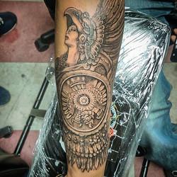 #oaxtattooink #azteca #azteck #tattoo#gavo1 #gavo #efrenart