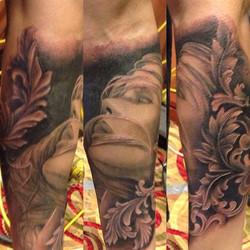 #newyorktattooshow #nolimitstattooshow #oaxtattooink #gavo1 #efrenart #mexicanstyle_tattoos