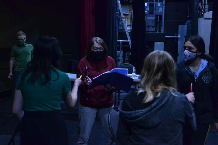 Nate, Raiah, Aly, Kylie, and Maya face off in the opening scene during rehearsal