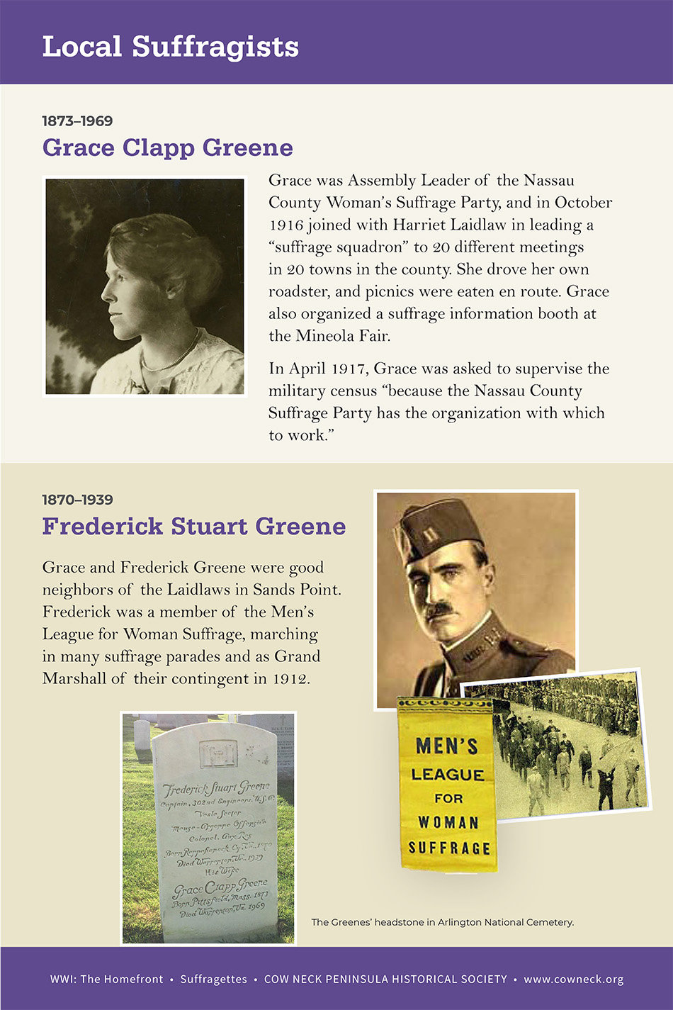 LI_Suffragettes_Grace and Frederick Gree