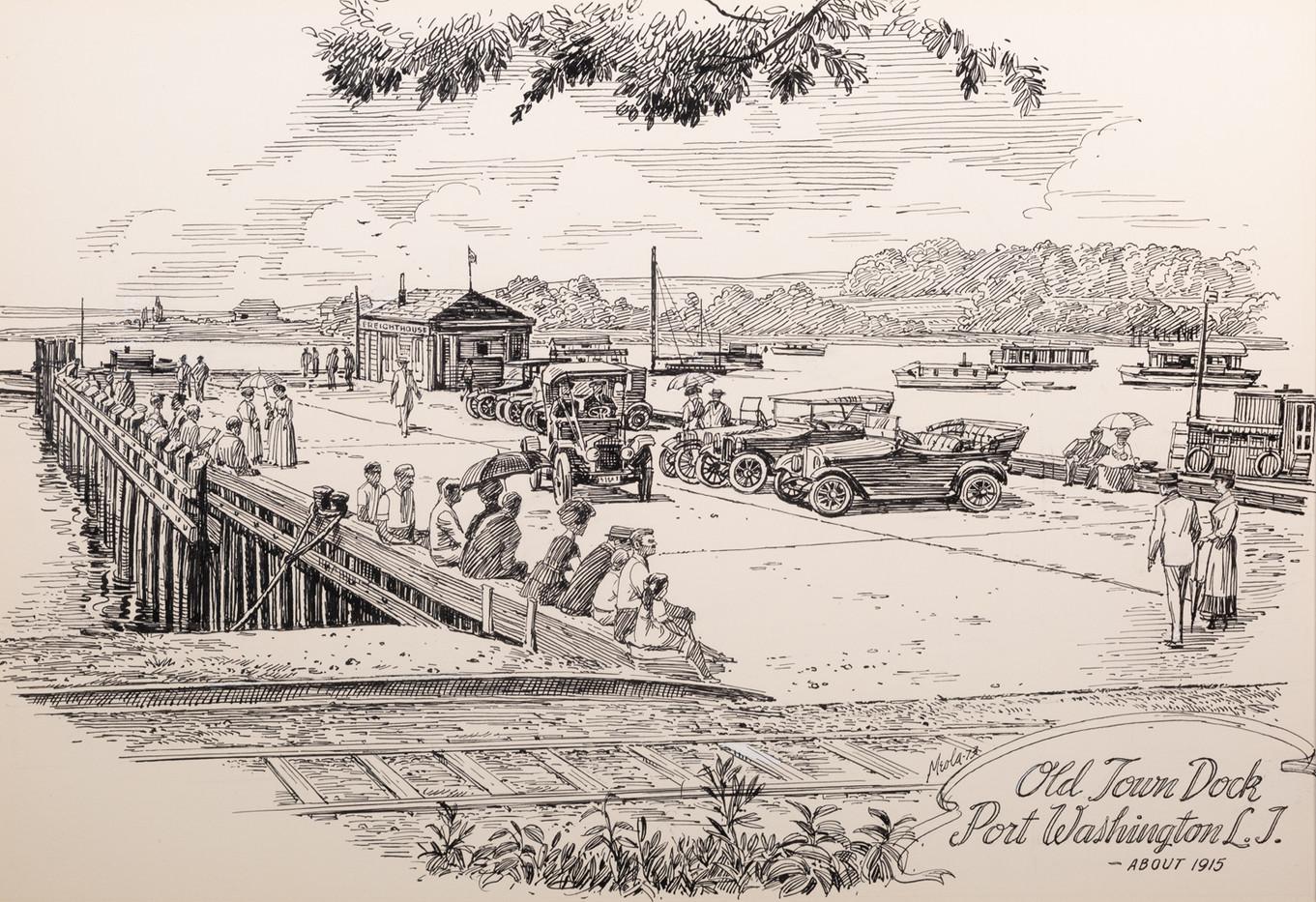 Old Town Dock, Port Washington, circa 1915