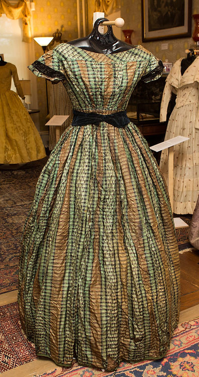 1860 Green Brown Plaid Dress.jpg