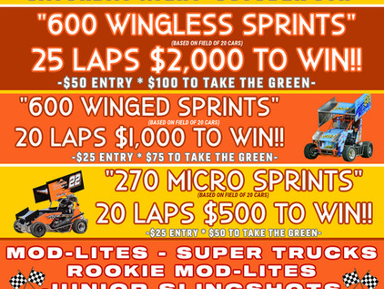 Middleford Speedway's 2nd Annual Fall Classic Set For October 9th