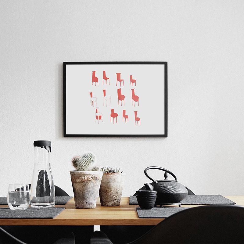 Wall art 'chairs'