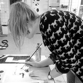 Victoria at Mara Piccione's studio, AiR in Netherlands