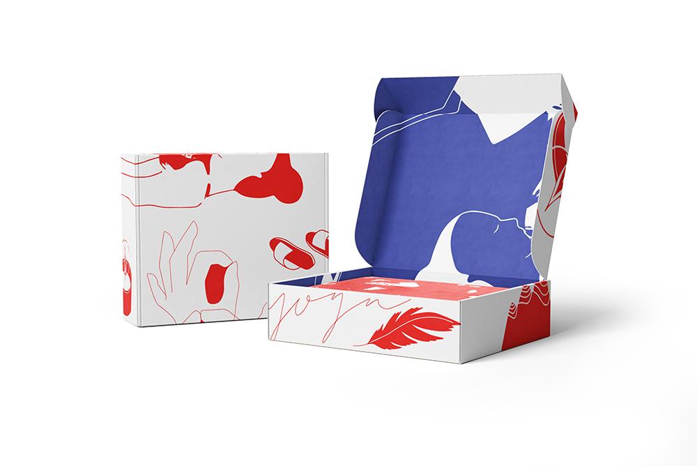 Leveranslåda Yoga / Mail order box Yoga