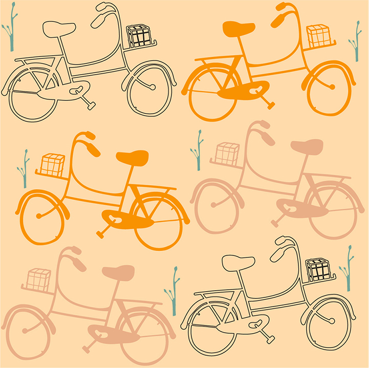 Pattern 'dutch bike'