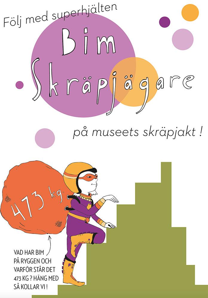 Karaktär och innehåll till folder för utställningen Re:Use, Bohusläns museum 2019 / Character and story. Folder for the exhibition Re:Use at Bohusläns museum, Sweden