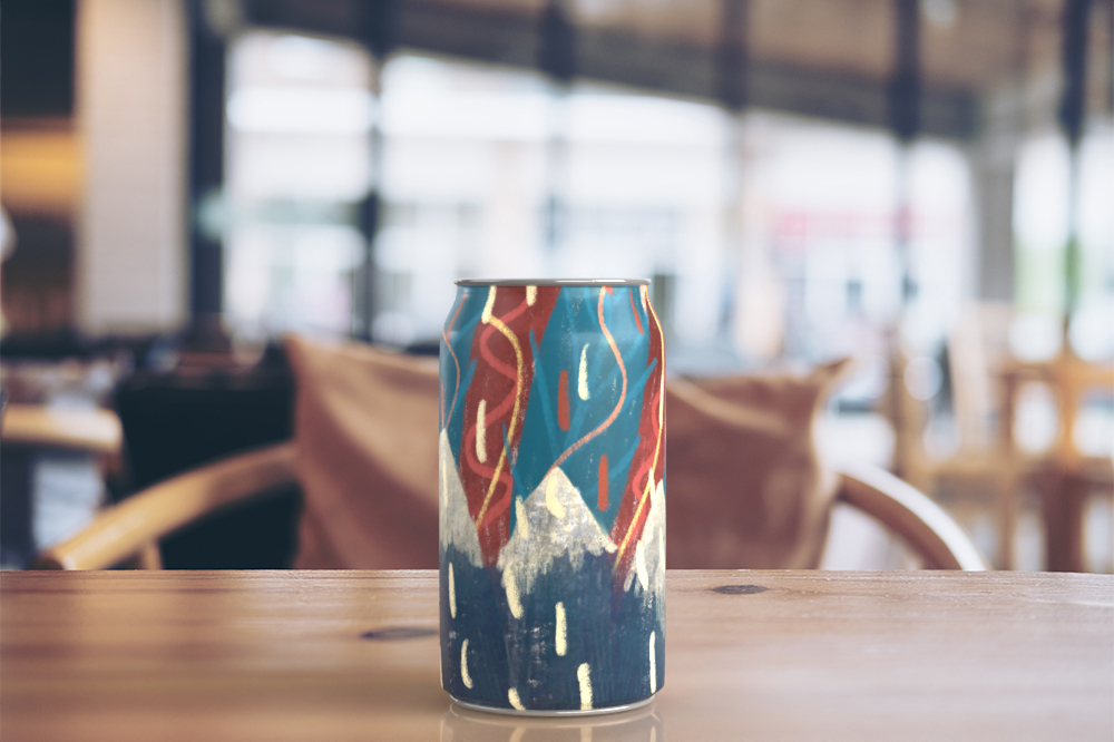 My can design 'mountain'