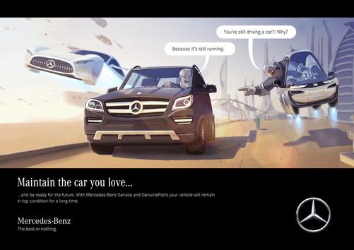 Mercedes-Benz After-Sales Services Poster