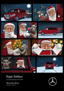 Mercedes-Benz After Sales X-Mas Comic