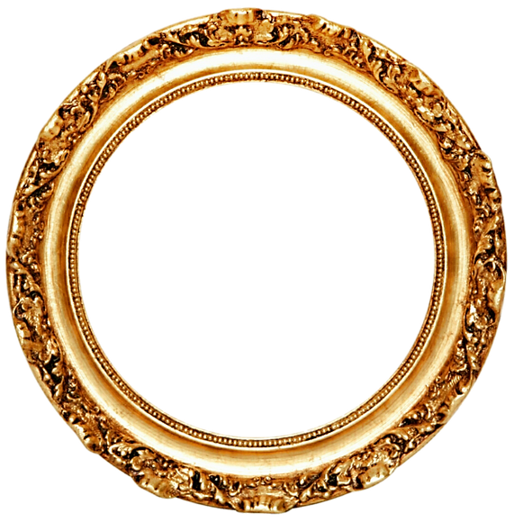 Download-Golden-Round-Frame-PNG-Transpar