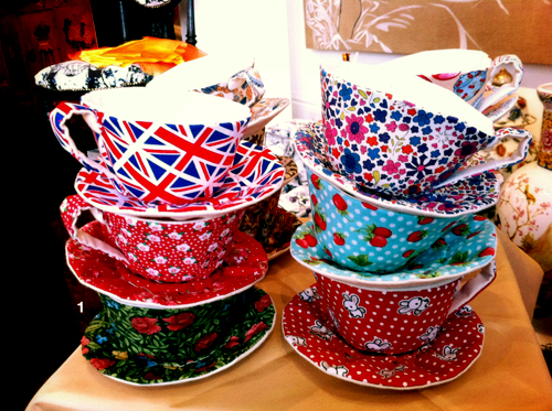 Textile Teacups at Protege