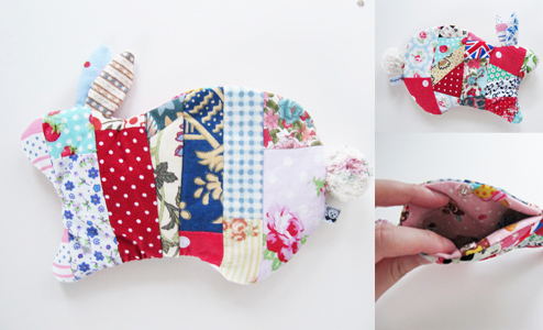 Patchwork Bunny Case